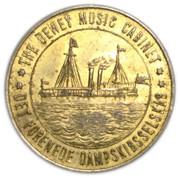 10 Øre - Det Forenede Dampskibsselskab – obverse