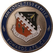 Challenge Coin - Air Force Test Center (Edwards Air Force Base, California) – obverse