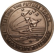 Challenge Coin - Air Force Test Center (Edwards Air Force Base, California) – reverse