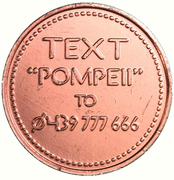Token - Melbourne Museum (A Day in Pompeii) – reverse