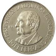 Medal - Présidents de la République Française (Mitterrand) – obverse