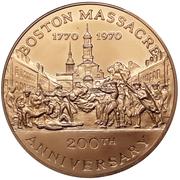 Medal - Boston Massacre 200th Anniversary (Boston, Massachusetts) – obverse
