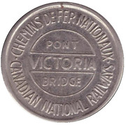 Token - Victoria Bridge (Montreal, Quebec; 22 mm) – obverse