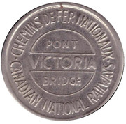 Token - Victoria Bridge (Montreal, Quebec; 22 mm) – reverse