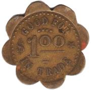 1 Dollar - Phelps Cigar Company (Fremont, Nebraska) – reverse