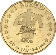1 Euro - d'Aix-les-Bains (Arc de Campanus) – reverse