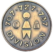 Medal - 707 727 737 Division – obverse