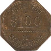 1 Dollar - The Gurley Mercantile Company (Gurley, Nebraska) – reverse