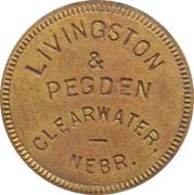 1 Dollar - Livingston & Pegden (Clearwater, Nebraska) – obverse