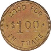 1 Dollar - Livingston & Pegden (Clearwater, Nebraska) – reverse