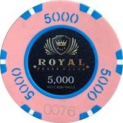 5000 - Royal Poker Club – obverse
