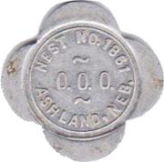 Token - Nest No. 1861 (Ashland, Nebraska) – reverse