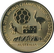 Token - For the World Championship of Football (Australia) – obverse
