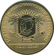 Token - For the World Championship of Football (Ivory Coast) – obverse