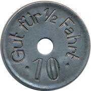 10 Pfennig (Hagen - Strassenbahn) – reverse