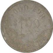 1 Dollar - Bormann Gen. Mdse. (Wesley, Texas) – reverse