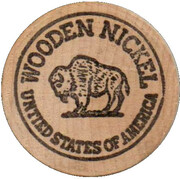 Wooden Nickel - American Sales Co. (Sperry, Oklahoma) – reverse