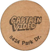 Wooden Nickel - Captain Video – obverse