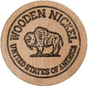 Wooden Nickel - Captain Video – reverse