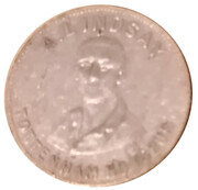 Token - Presented with the Wizard (A. Lindsay Tottenham Hotspur / Sunbeam Racer) – obverse