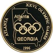 Token - 1996 Summer Olympics, Atlanta – reverse