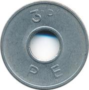 3 Pence - PE -  reverse