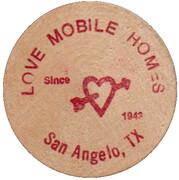 Wooden Nickel - Love Mobile Homes – obverse
