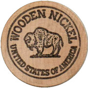 Wooden Nickel - 5 – reverse