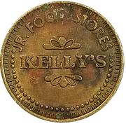 Token - Jr. Food Stores (Kelly's) – obverse