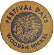 Wooden Nickel - Festival Days (Columbus, Georgia) – obverse