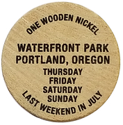 Wooden Nickel - Oregon Brewers Festival (Portland, Oregon) – reverse