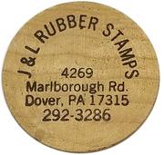 Token - J & L Rubber Stamps (Dover, Pennsylvania) – obverse