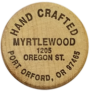 Wooden Nickel - The Wooden Nickel (Port Orford, Oregon) – obverse