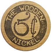 Wooden Nickel - The Wooden Nickel (Port Orford, Oregon) – reverse