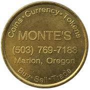 2½ Dollars - Monte's (Marion, Oregon) – obverse