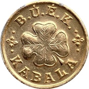 New Year Lucky Token (B.Ú.É.K.) – reverse
