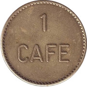 Token - 1 Cafe – obverse