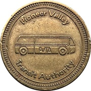 1-Zone Ride - Pioneer Valley Transit Authority (Springfield, Massachusetts) – obverse