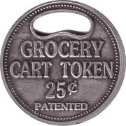 Shopping Cart Token - Union Service Label – reverse