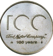 Token - Ford Motor Company 100 Years – reverse