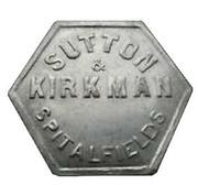 5 Shillings - Sutton & Kirkman (Spitalfields, London) – obverse