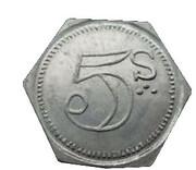 5 Shillings - Sutton & Kirkman (Spitalfields, London) – reverse
