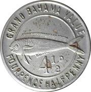 4 ½ Pence - Grand Bahama Club – reverse