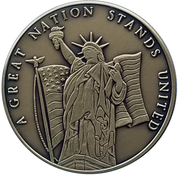 Token - A Great Nation Stands United – obverse