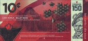 10 Cents - Canadian Tire Coupon (150 Years of Confederation of the Dominion of Canada) – obverse