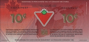 10 Cents (Canadian Tire: 150 Years of Confederation of the Dominion of Canada) – reverse