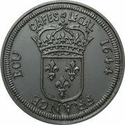 Token - Cafes Legal (France Ecu 1644) – reverse