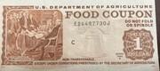 FOOD COUPON VALUE 1 DOLLAR – obverse