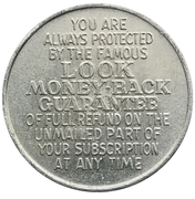 Token - Look Money Back Guarantee Medallion – reverse