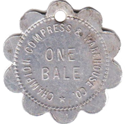 1 Bale - Champion Compress & Warehouse Company (Wilmington, North Carolina) – obverse